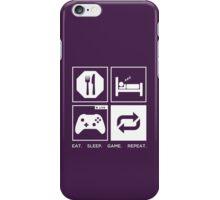 Eat. Sleep. Game. Repeat. iPhone Case/Skin