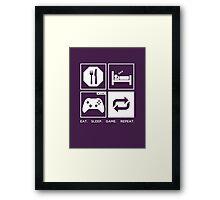 Eat. Sleep. Game. Repeat. Framed Print