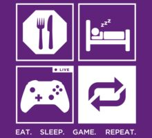 Eat. Sleep. Game. Repeat. by Werutaasu