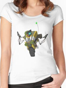 Soldier Claptrap Sticker Women's Fitted Scoop T-Shirt