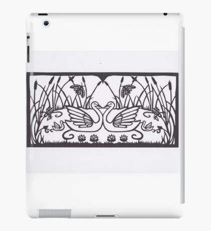 Swan Mothers and Babies iPad Case/Skin