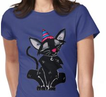 Witch Cat Womens Fitted T-Shirt
