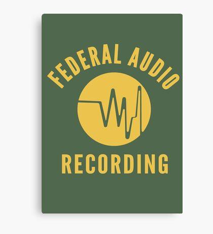 Federal Audio Recording Canvas Print