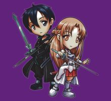 Sword Art Online - Asuna and Kirito Chibi by Julia Lichty