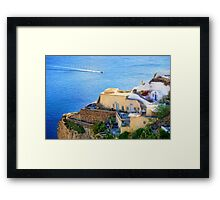 Scenic from Oia Framed Print