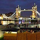 Tower Bridge At Night by Steven Mace
