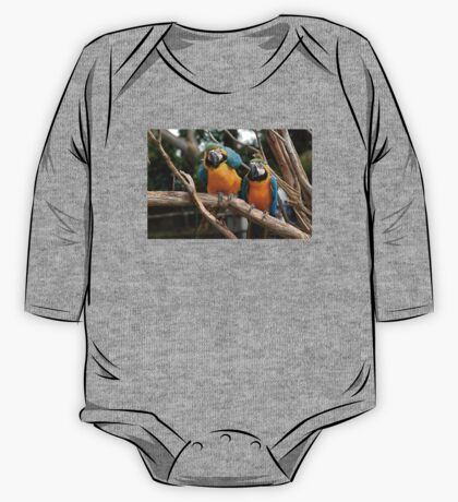 Blue And Gold Macaw One Piece - Long Sleeve