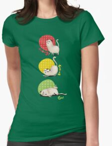 Ready? Steady. Go! Womens Fitted T-Shirt