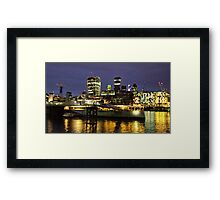 The City at Night Framed Print