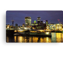 The City at Night Canvas Print