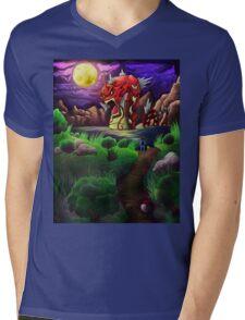 Red Gyarados Mens V-Neck T-Shirt