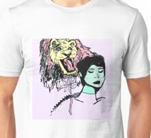 Lion and Girl Unisex T-Shirt
