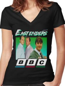 Eastenders 90's Vintage Women's Fitted V-Neck T-Shirt
