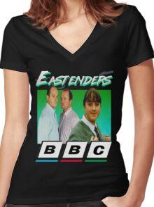 Eastenders 90's Vintage Women's Fitted V-Neck T-Shirt