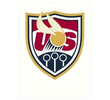 United States of America Quidditch Logo Large Art Print