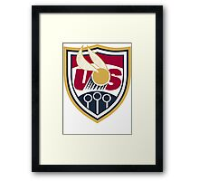 United States of America Quidditch Logo Large Framed Print