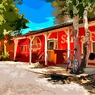 Santa Fe Railroad Car Art Print by Diana Graves Photography