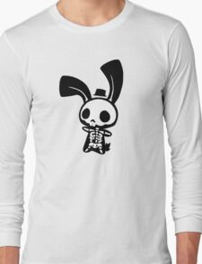 Chui Bunny's Skeleton in a Tiny Top Hat Long Sleeve T-Shirt