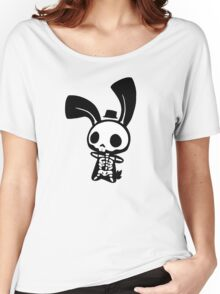 Chui Bunny's Skeleton in a Tiny Top Hat Women's Relaxed Fit T-Shirt