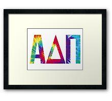 alpha delta pi tie dye print Framed Print