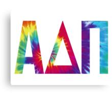 alpha delta pi tie dye print Canvas Print