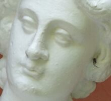 Statue of a Lady with a Spider in her Ear Sticker