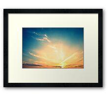beautiful sunset Framed Print