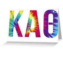 kappa alpha theta tie dye Greeting Card
