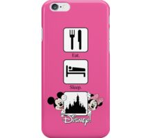 Eat. Sleep. Disney! Mickey & Minnie Vertical Tee and Cases for Him or Her! iPhone Case/Skin