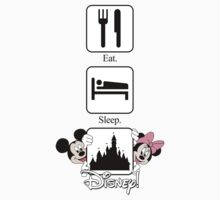 Eat. Sleep. Disney! Mickey & Minnie Vertical Tee and Cases for Him or Her! Kids Clothes