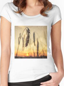 rye in sunset Women's Fitted Scoop T-Shirt