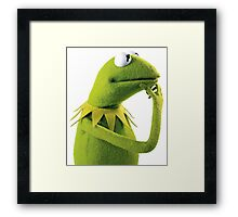 Kermit Contemplating, an aesthetic Framed Print