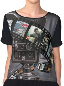 Film Strip Art Chiffon Top