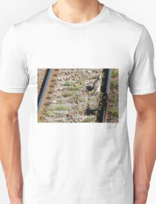 cat on the rails Unisex T-Shirt