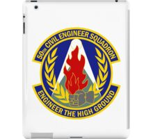 50th Civil Engineer Squadron - Engineer The High Ground iPad Case/Skin