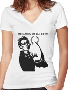 Riveting Rosie Monarchy Women's Fitted V-Neck T-Shirt