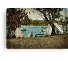 Row of Row Boats Canvas Print