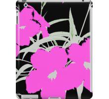 orchid on black iPad Case/Skin