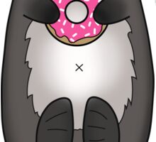 Sea Otter with Donut - Cute Otter Holding Doughnut with Little Paws Sticker