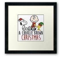 Charlie Brown - Christmas Framed Print