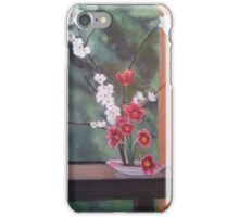 Ikebana With Tulips and Apple Blossoms iPhone Case/Skin