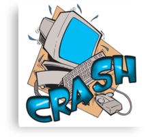 Comuter Crash Canvas Print