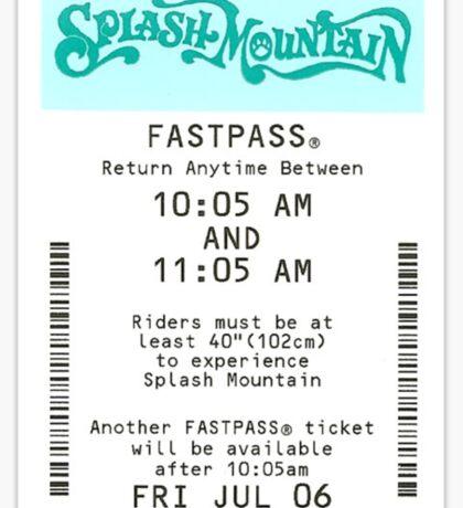 Splash Mountain Sticker
