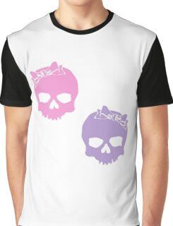 Pastel Skulls Graphic T-Shirt