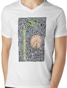 ATLANTIC Mens V-Neck T-Shirt