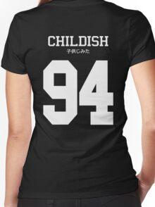 Childish Jersey (custom) Women's Fitted V-Neck T-Shirt