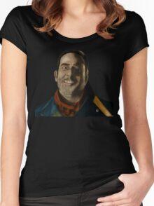 Negan Fanart Women's Fitted Scoop T-Shirt