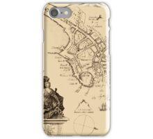 Map Of Boston 1728 iPhone Case/Skin