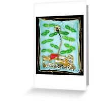 Pre-Post Mortem Modern Art Diffusion Greeting Card