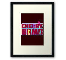 Cherry Bomb (Text) Framed Print